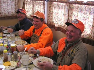 Gunless Professional Hunting Guides at Breakfast